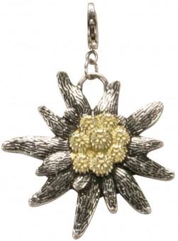 Trachten Edelweiss Pendant, Bi-colour