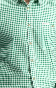 Trachtenhemd Campos in dunkelgrün