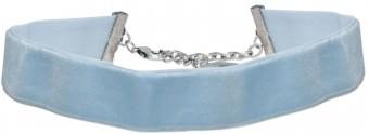 Trachten Samtkropfband breit hellblau