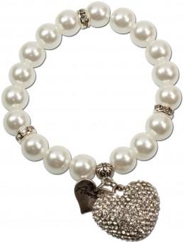 Trachten-Perlenarmband Marina cremeweiß