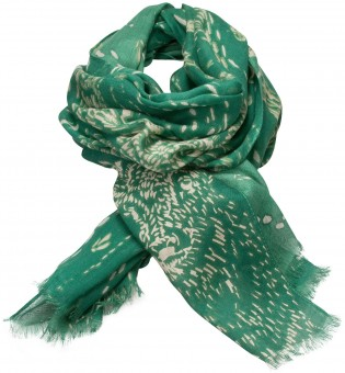 Trachten Scarf with Deer-Print, Green