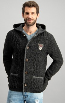 Traditionele sweater Sebastian antraciet
