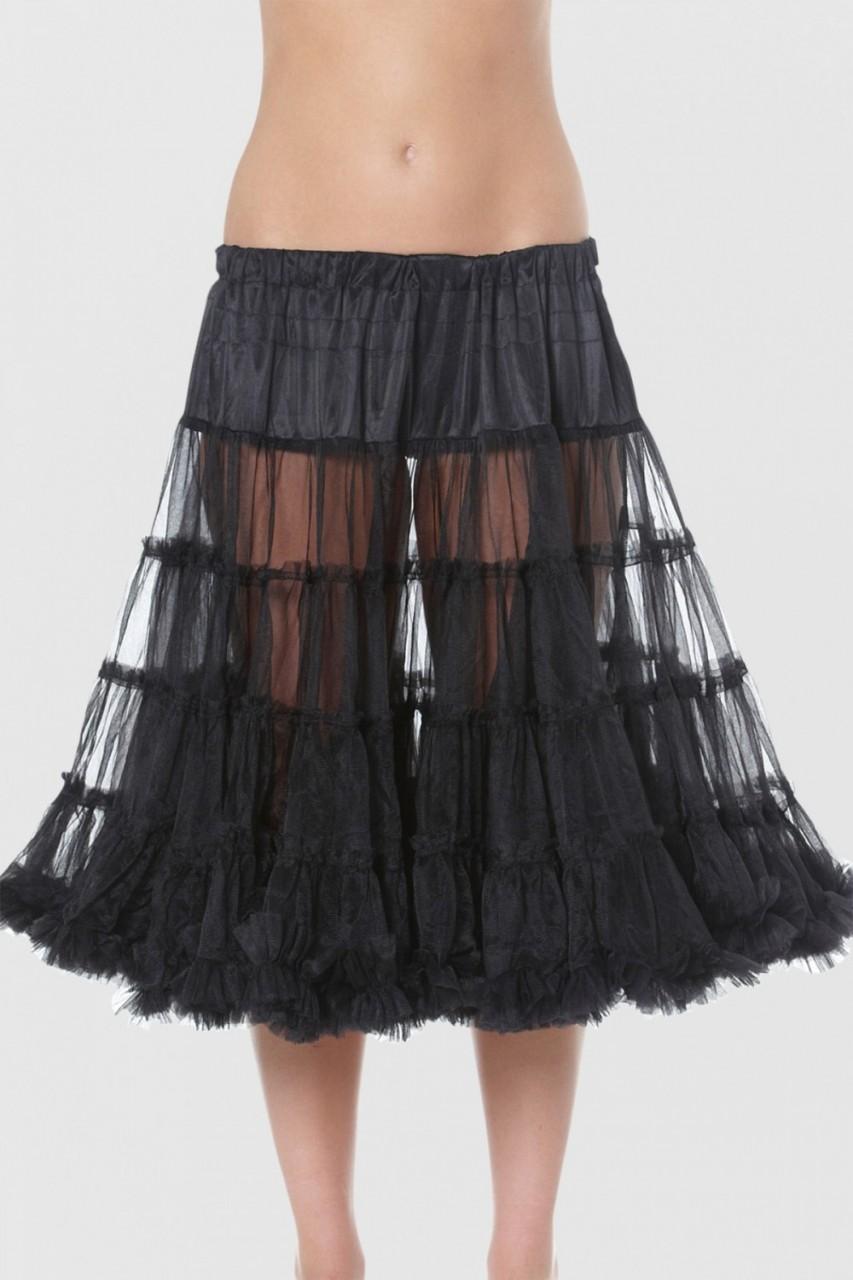 Petticoat in zwart 60cm