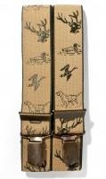 Hosenträger mit Jagdstickerei helles Olivgrün
