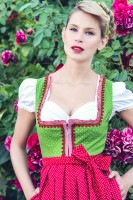 Preview: Dirndl Talisa, green dotted