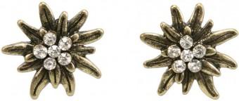Trachten Ohrringe Strass altgold
