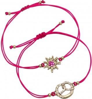 Trachten Armband Set pink