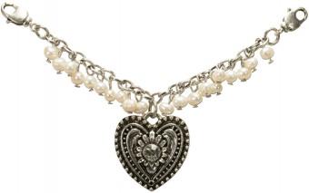 Mini Pearl Charivari Chain with Trachten Heart
