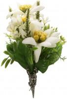 Vorschau: Trachten Brosche Edelweiß-Blüten