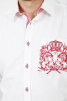 Vorschau: Trachtenhemd Cosmo rot