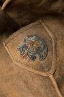 Vorschau: Lederhose Aron hellbraun/blau