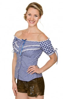 Trachten blouse Clio in blue