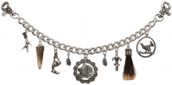 Trachten Charivari Chain Louis, Antique Silver