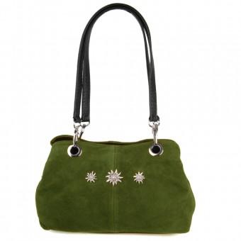 Handtasche Larissa Wildleder oliv 101