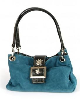 Handtasche Wildleder türkis