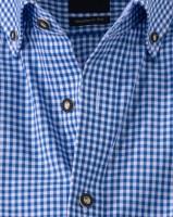 Vorschau: Olymp Hemd Trachtenhemd blau/weiss, Kariert