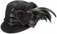Vorschau: Trachtenhut Filzhut schwarz Schleife