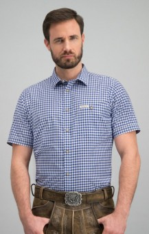 Trachtenhemd Renko in blau