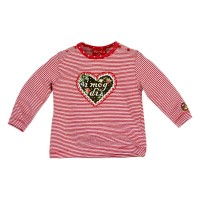 Vorschau: Kinder T-Shirt geringelt 'i mog di'