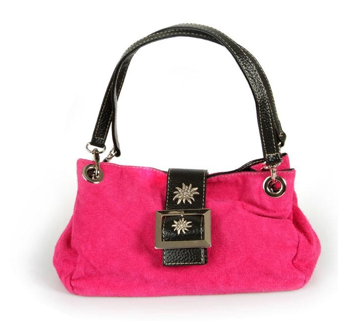 Handtasche Wildleder pink
