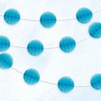Vorschau: Wabenball Girlande blau 2,13m