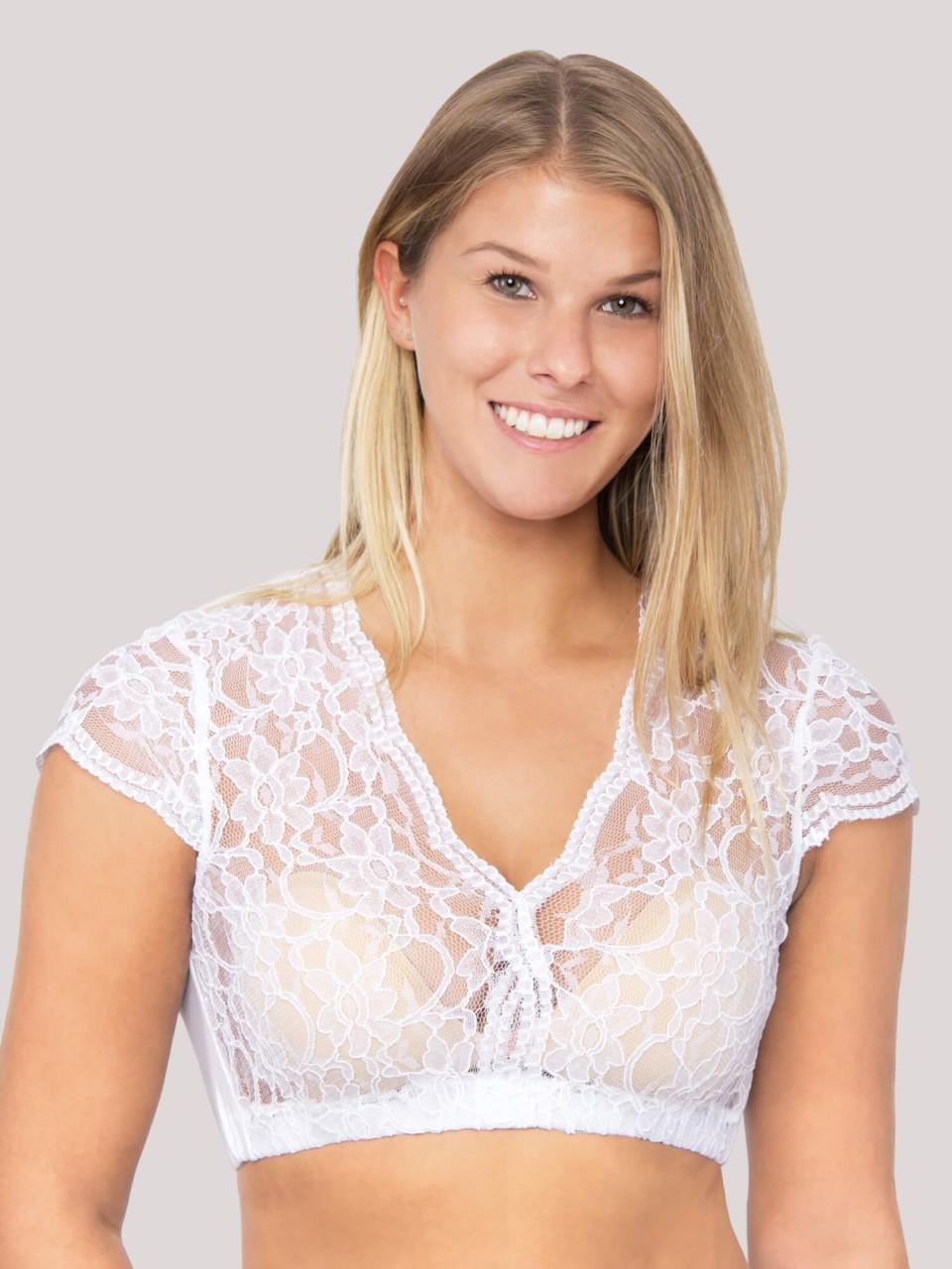 Bluzka Dirndl Talia biała