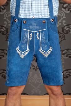 Lederhose Sebastian blau