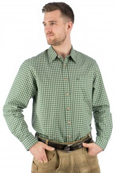 Traditioneel shirt Bertl groen-beige