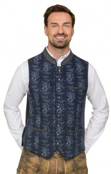 Trachten vest Enzo in blue