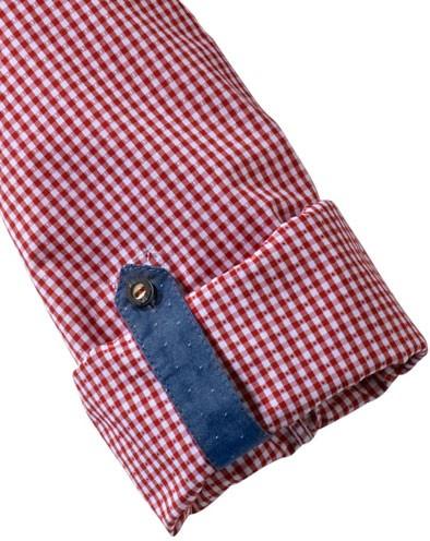 Olymp Hemd Trachtenhemd rot/weiss