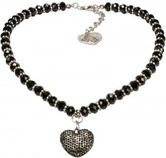 Perlenkette Mathilda schwarz