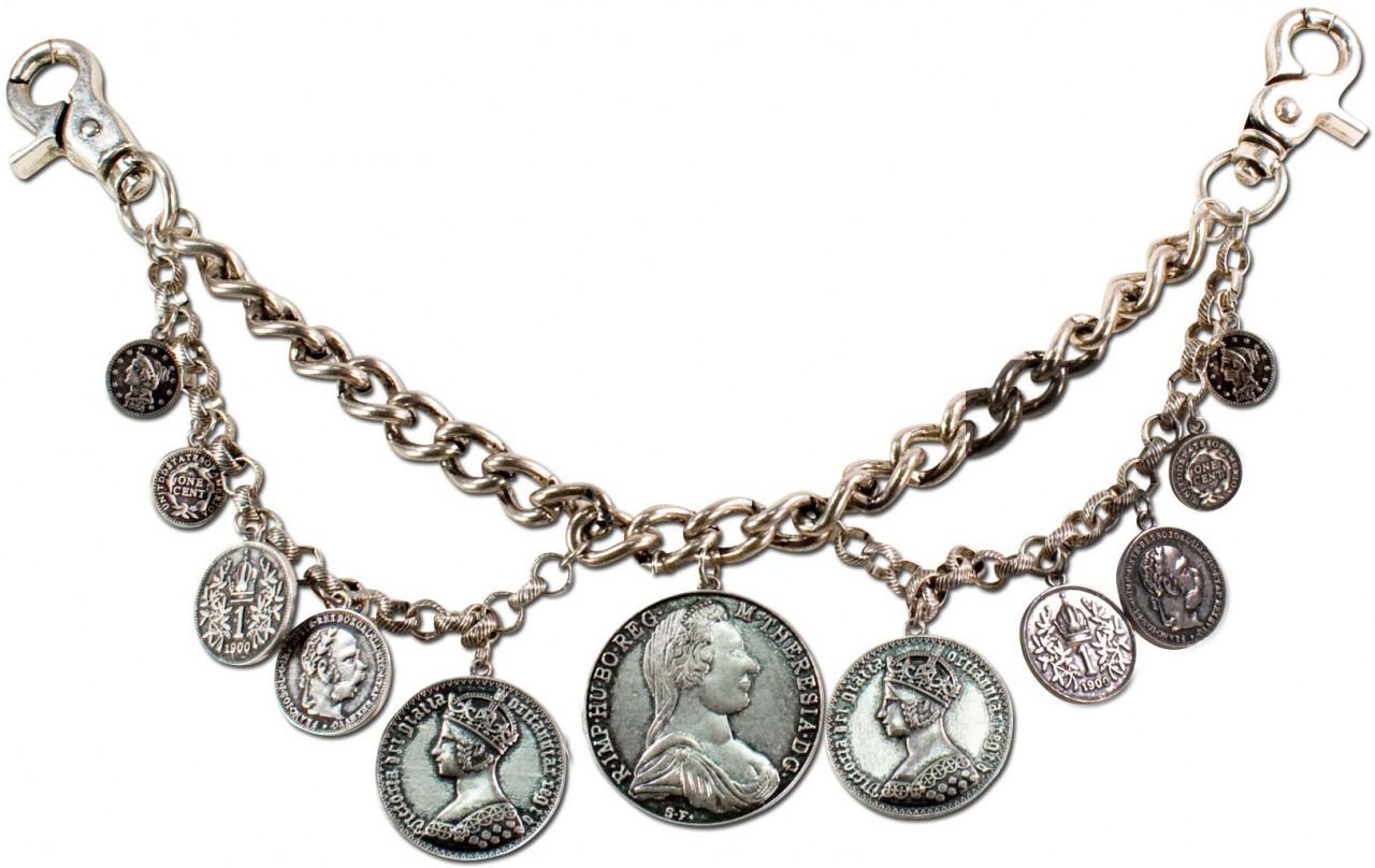 Trachten-Charivari Münzen altsilber