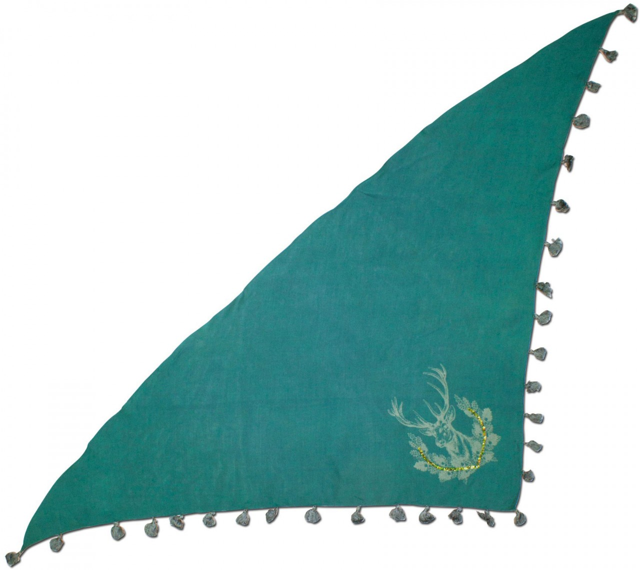 Dreiecks-Trachtentuch Hirsch grün
