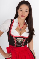 3-piece black dirndl with romantic embroidery