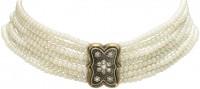 Vorschau: Perlen-Kropfkette Ida cremeweiß