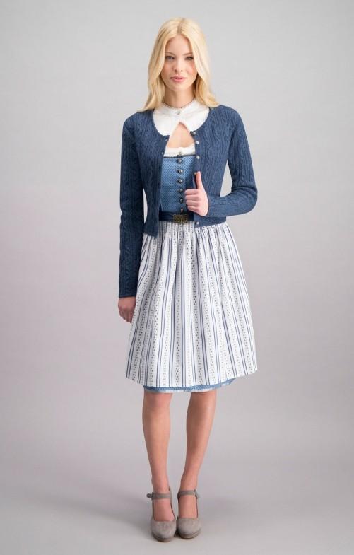 Traditionele jas Liz in blauw