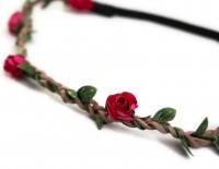 Vorschau: filigranes Haarband mit kleinen pinken Blüten
