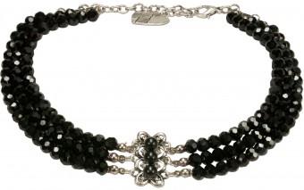 Perlenkropfkette Clara schwarz