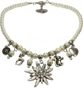 Trachten Perlenhalskette Sophia