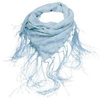 Fransen-Trachtentuch Waldliebe hellblau