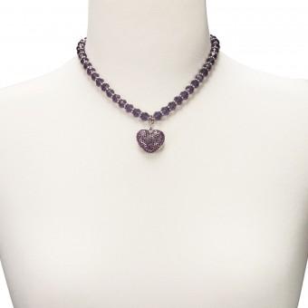 Perlenkette Mathilda lila