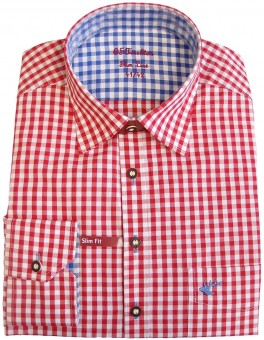 Traditioneel shirt Loras rood