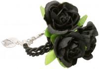 Vorschau: Blüten-Armband Celina schwarz
