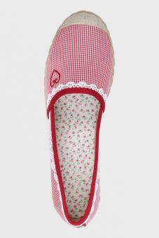 Espadrilles Red Check