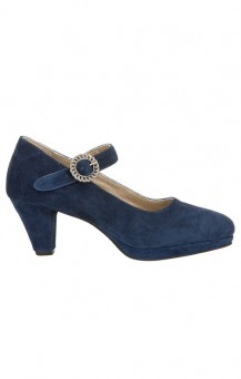 Dirndlpumps Janett in dark blue