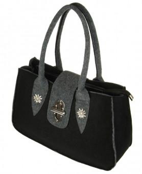 Handtaschen Filz schwarz-grau