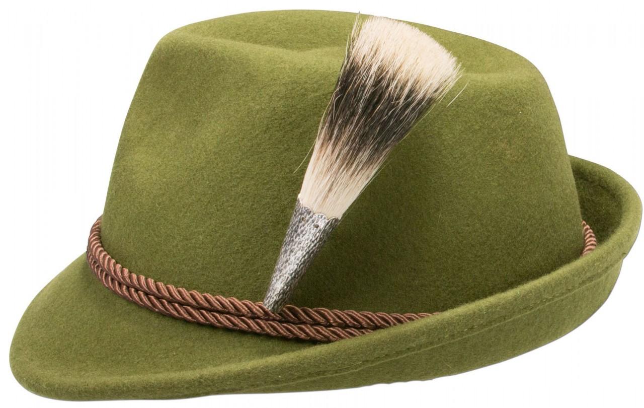 Filzhut Dachshaar grün