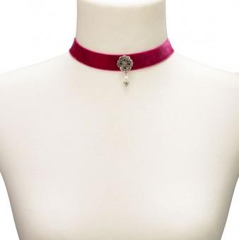 Trachten Kropfband mit Ornament pink