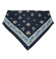 Tuch Edelweiß marine-hellblau