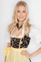 3-piece black dirndl with balconette neckline